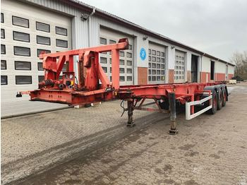 Container-transport/ vekselflak semitrailer LAG 30' tipchassis